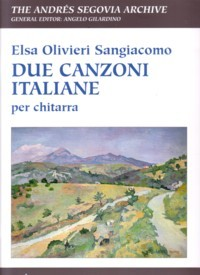 Due Canzoni Italiane(Gilardino/Biscaldi) available at Guitar Notes.