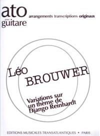 Variations sur un theme de Django Reinhardt available at Guitar Notes.