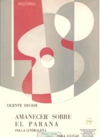 Amanecer sobre el Parana, polca available at Guitar Notes.