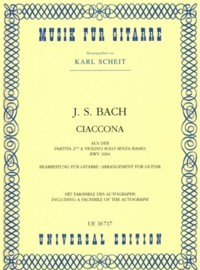 Chaconne, BWV1004(Scheit) available at Guitar Notes.