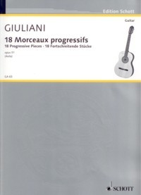 18 Progressive Pieces, op.51(Avila) available at Guitar Notes.