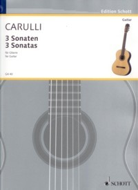3 Sonatas, op.7a(Ritter) available at Guitar Notes.