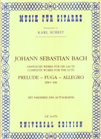 Prelude, Fugue & Allegro, BWV998(Scheit) available at Guitar Notes.