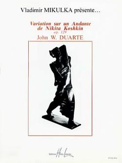 Variations sur un Andante de Koshkin, op.129 available at Guitar Notes.