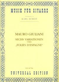 Variations on Folies d'Espagne, op.45(Scheit) available at Guitar Notes.