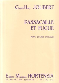 Passacaille et Fugue available at Guitar Notes.