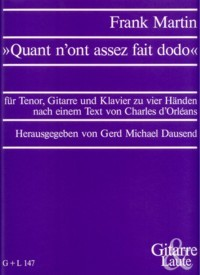 Quant n'ont assez fait dodo [Ten/Gtr/Pf4H] available at Guitar Notes.