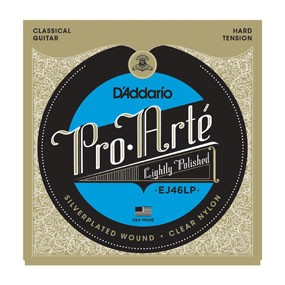 ProArte: EJ46LP Lightly Polished Silver/Clear/Hard Tension available at Guitar Notes.