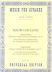 Variations on a theme by Handel, op.107(Scheit) available at Guitar Notes.
