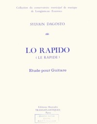 Lo Rapido (etude) available at Guitar Notes.