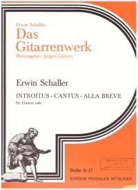 Introitus, Cantus, Alla Breve(Libbert) available at Guitar Notes.