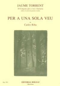 Per a una Sola Veu available at Guitar Notes.