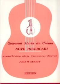 Nove Ricercari(Duarte) available at Guitar Notes.