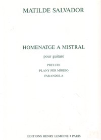 Homenatge a Mistral available at Guitar Notes.