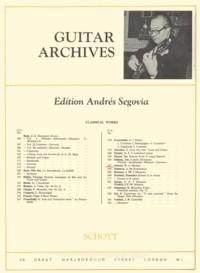 Menuet(Segovia) available at Guitar Notes.