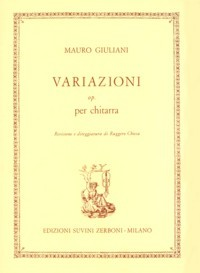 Variazioni, op.7(Chiesa) available at Guitar Notes.