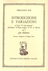 Variations on a theme of Mozart, op.9(Chiesa) available at Guitar Notes.