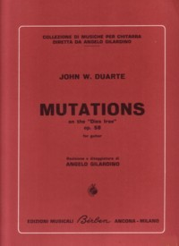 Mutations on the Dies Irae, op.58 available at Guitar Notes.