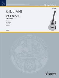24 Studies, op.48(Ritter) available at Guitar Notes.