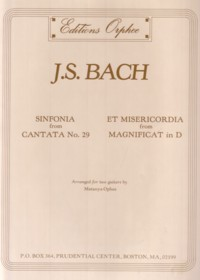 Sinfonia BWV29 & Et Misercordia available at Guitar Notes.