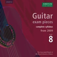 Recordings of Guitar Exam Pieces, Grade 8 available at Guitar Notes.