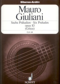 6 Preludes, op.83(Gotze) available at Guitar Notes.
