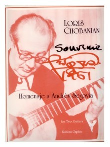Souvenir, Homage a Andres Segovia available at Guitar Notes.