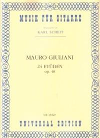 24 Etuden, op.48(Scheit) available at Guitar Notes.