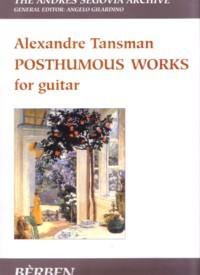Posthumous Works(Biscaldi/Gilardino) available at Guitar Notes.