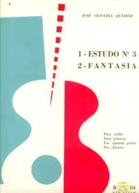 Estudo no.3; Fantasia available at Guitar Notes.