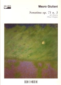 Sonatina, op.71/3(Ghiglia) available at Guitar Notes.
