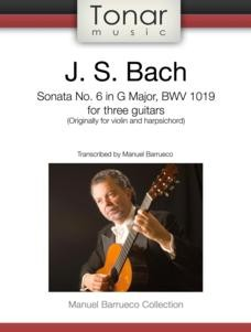 Sonata no.6 in G BWV1019 (Barrueco) available at Guitar Notes.