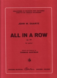 All in a Row, op.51 available at Guitar Notes.