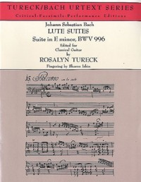 Lute Suite, BWV996(Isbin) available at Guitar Notes.