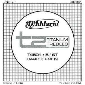 T2 Titanium Trebles/Hard Tension available at Guitar Notes.