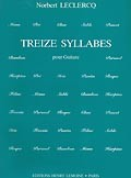Treize Syllabes available at Guitar Notes.