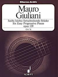 6 Easy & Progressive Pieces available at Guitar Notes.
