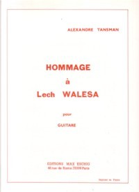 Hommage a Lech Walesa available at Guitar Notes.