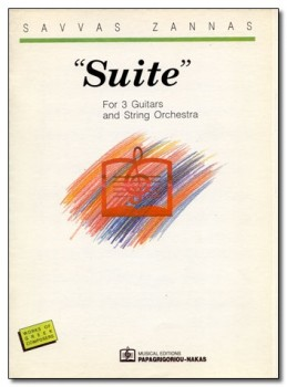 Suite for three guitars & strings available at Guitar Notes.
