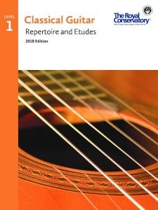 Classical Guitar Repertoire and Etudes 2018 Level 1 available at Guitar Notes.