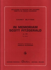 In Memorian Scott Fitzgerald, op.60b available at Guitar Notes.