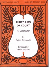 Three Airs of Court available at Guitar Notes.