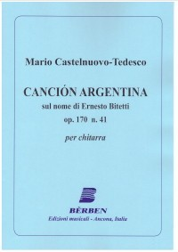 Cancion Argentina, op.170/41 available at Guitar Notes.