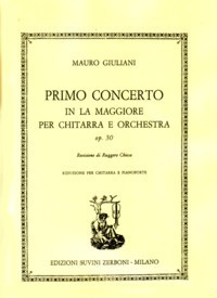 Concerto no.1 in A, op.30(Chiesa) [GPR] available at Guitar Notes.