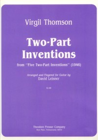 Two-Part Inventions (Leisner) available at Guitar Notes.