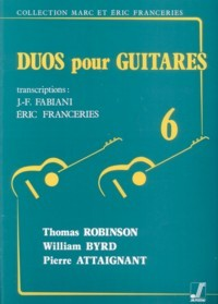 Duos pour Guitares 6 available at Guitar Notes.