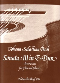 Sonata in E, BWV1035(Uhlmann) available at Guitar Notes.