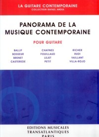 Panorama de la Guitare Contemporaine available at Guitar Notes.