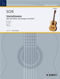 Variations on a theme of Mozart, op.9(Segovia) available at Guitar Notes.