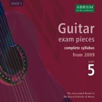 Recordings of Guitar Exam Pieces, Grade 5 available at Guitar Notes.